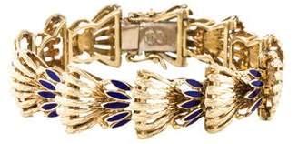 14K Enamel Link Bracelet