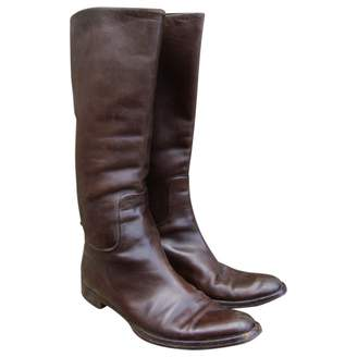Jil Sander Brown Leather Boots