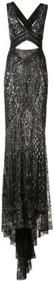 Roberto Cavalli cut-out embroidered gown
