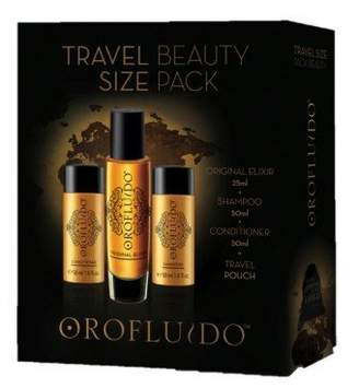 Orofluido Travel Beauty Set contains Shampoo, Conditioner and Original Elixir, 125 ml
