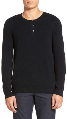 VINCE. Long Sleeve Knit Henley Wool Blend Sweater $295 thestylecure.com
