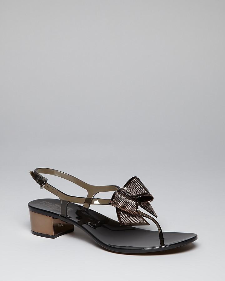 Salvatore Ferragamo Thong Sandals - Sunshine Mid Heel