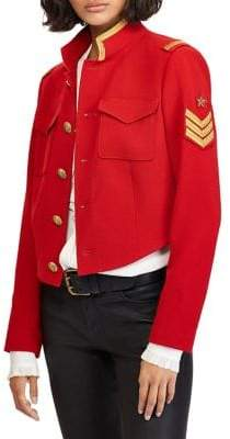 Polo Ralph Lauren Cropped Military Jacket