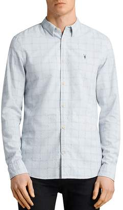 AllSaints Rowhill Regular Fit Button-Down Shirt
