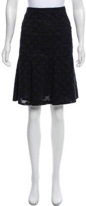 Chanel Knee-Length Eyelet Skirt