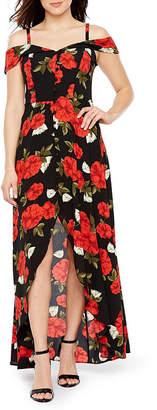 PREMIER AMOUR Premier Amour Sleeveless Cold Shoulder Floral Maxi Dress