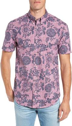 Reyn Spooner Royal Chrysanthemums Regular Fit Sport Shirt