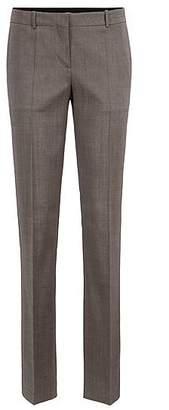 HUGO BOSS Regular-fit tailored trousers in sharkskin virgin wool