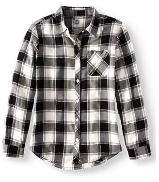 Buffalo David Bitton Wonder Nation Girls' Check Flannel Button Down Shirt