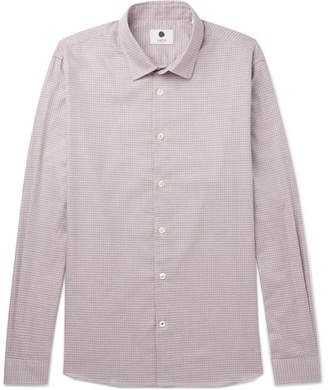 NN07 Alberto Houndstooth Brushed-Cotton Shirt