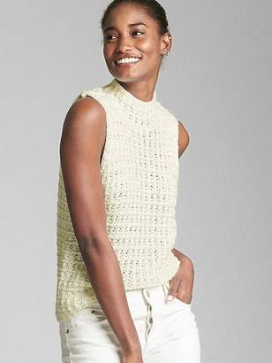 Gap Crochet Mockneck Tank Top