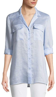 Lafayette 148 New York Fran Gemma Cloth Blouse