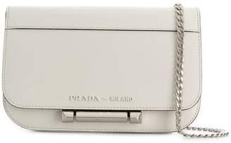 Prada plaque-embellished shoulder bag