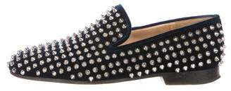 Christian Louboutin Velvet Spiked Loafers