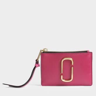 Marc Jacobs Snapshot Top Zip Multi Wallet in Hibiscus Split Cow Leather