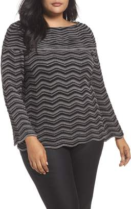 Nic+Zoe Zigzag Stripe Sweater