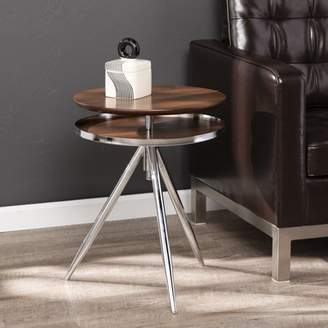Mid-Century MODERN Southern Enterprises Bovai Adjustable Accent Table, Midcentury Modern, Silver