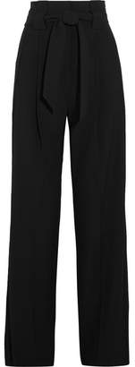 Michelle Mason - Crepe Wide-leg Pants - Black