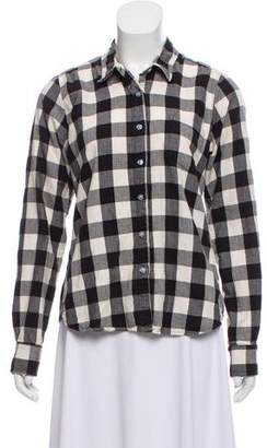 Steven Alan Plaid Long Sleeve Top