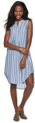 Women's Sharagano Sleeveless High-Low Shirt Dress