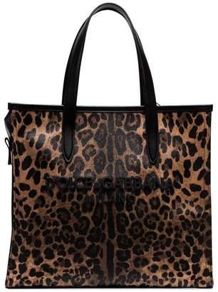 Dolce & Gabbana leopard-print tote bag