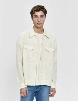 Our Legacy P.X. Net Waffle Shirt in Ivory