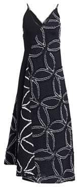 Roland Mouret Hooper Geometric Floral Jacquard A-Line Dress