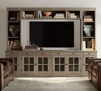 Pottery Barn Livingston Medium Media Suite with Glass Doors