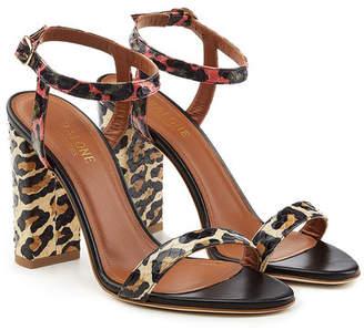 Malone Souliers Ladida Leopard Sandals in Snakeskin