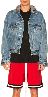 Fear of God Selvedge Denim Terry Hooded Trucker Jacket $1,195 thestylecure.com