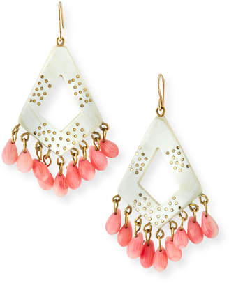 Ashley Pittman Mashua Light Horn Drop Earrings