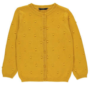 Bobble George Mustard Yellow Knit Cardigan