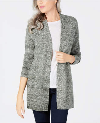 Karen Scott Open-Front Sweater Cardigan