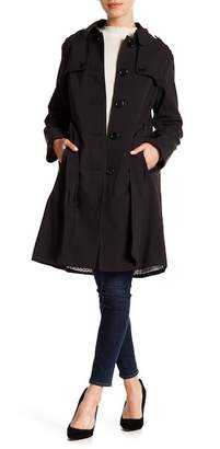 Kate Spade Collared Waist Tie Trench Coat