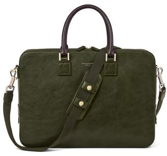 Aspinal of London Small Mount Street Bag In Moss Green Pebble