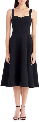 Jason Wu Sleeveless Crepe Corset Cocktail Dress