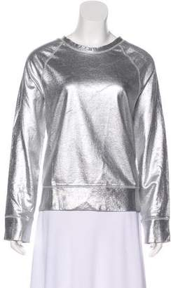 Acne Studios Metallic Long Sleeve Sweatshirt