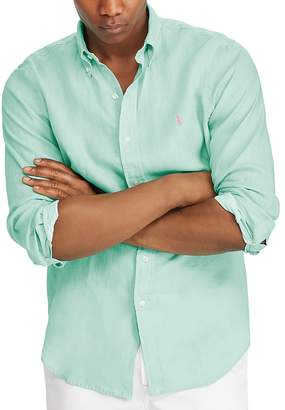 Polo Ralph Lauren Classic Fit Linen Long Sleeve Button-Down Shirt