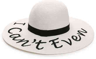 Women's Sassy Word Floppy Hat -Black $32 thestylecure.com