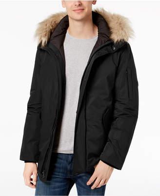 Calvin Klein Men Snorkel Jacket with Faux-Fur Trim