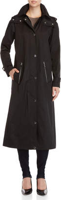 Calvin Klein Hooded A-Line Long Raincoat