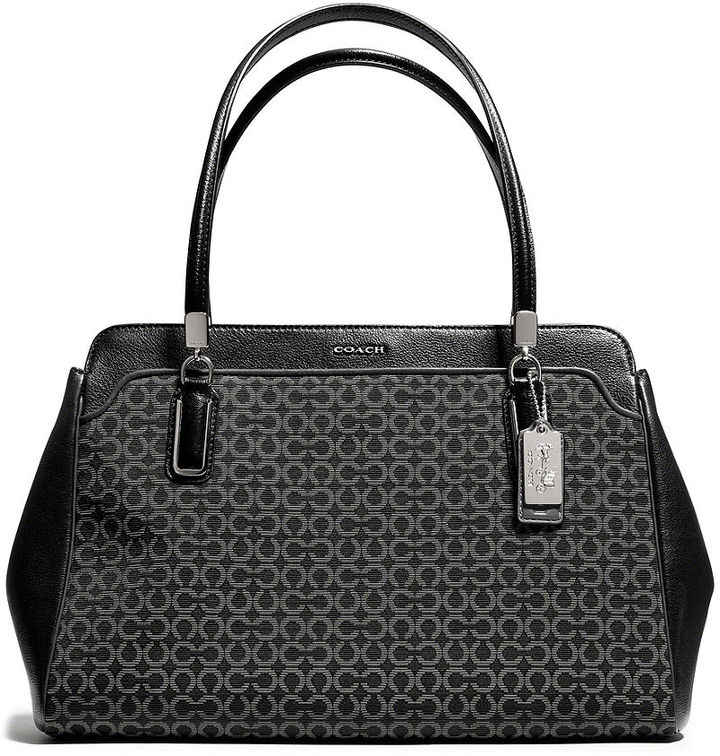 Kimberly Coach Madison Carryall In Op Art Needlepoint Fabric