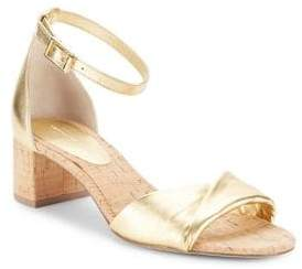 Diane von Furstenberg Florence Metallic Nappa Leather Sandals