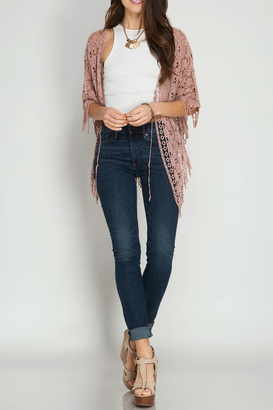 She + Sky Short Sleeve Cardigan $39 thestylecure.com