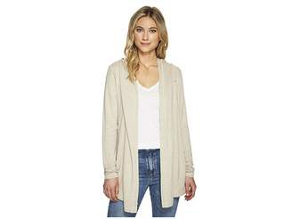 Michael Stars Elevated French Terry Hooded Jacket with Thumbholes Women's Coat