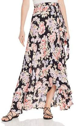 Band of Gypsies Seville Floral Wrap Maxi Skirt