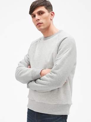 Gap Sherpa-Lined Pullover Raglan Sweatshirt