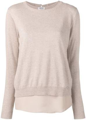 Liu Jo long-sleeve fitted sweater
