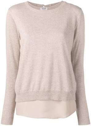 Liu Jo (リュー ジョー) - Liu Jo long-sleeve fitted sweater