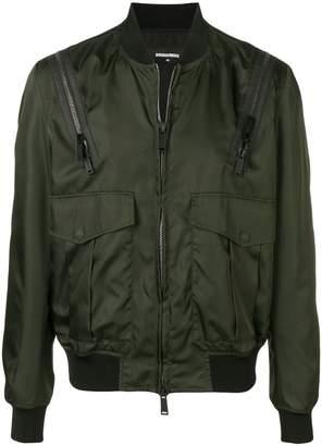 DSQUARED2 zipped up bomber jacket